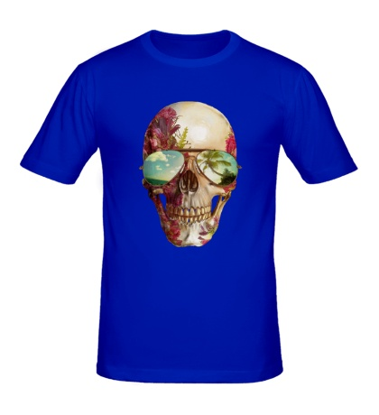 Мужская футболка «Летний череп»