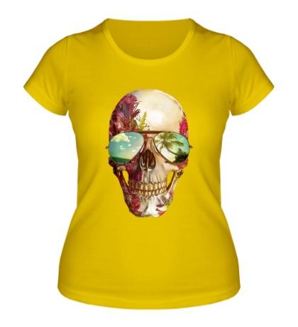 Женская футболка Летний череп