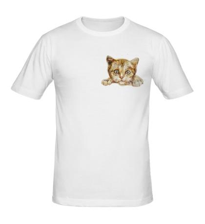 Мужская футболка Любящий котик