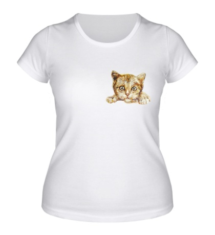 Женская футболка «Любящий котик»