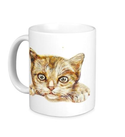 Керамическая кружка Любящий котик