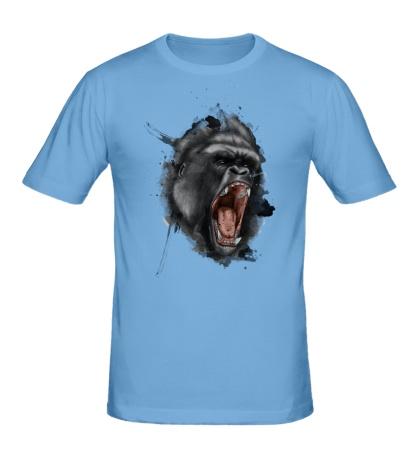 Мужская футболка Злая горилла