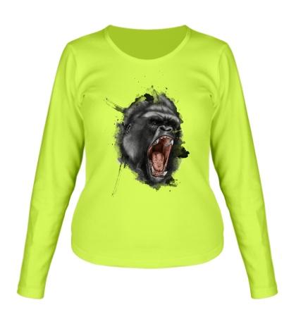 Женский лонгслив Злая горилла