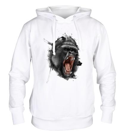 Толстовка с капюшоном Злая горилла