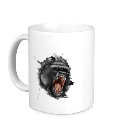 Керамическая кружка Злая горилла