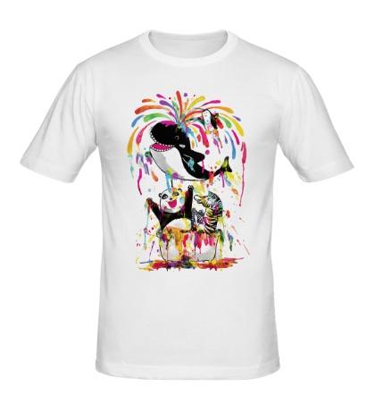 Мужская футболка Позитивный кит