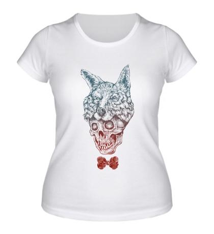 Женская футболка Fox skull