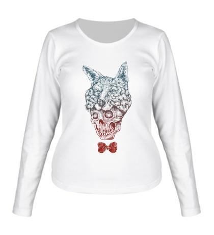 Женский лонгслив Fox skull