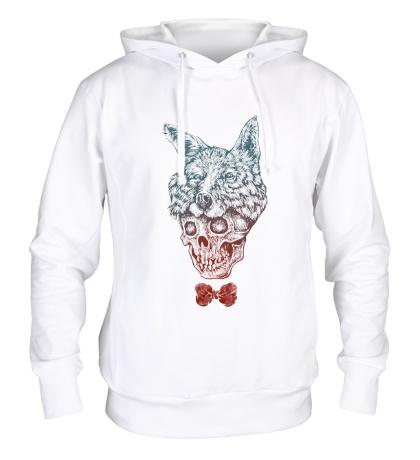 Толстовка с капюшоном Fox skull