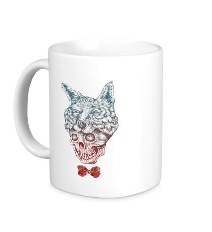 Керамическая кружка Fox skull