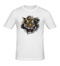 Мужская футболка Акварельный тигр