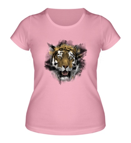 Женская футболка Акварельный тигр