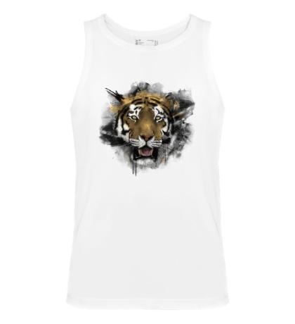Мужская майка Акварельный тигр