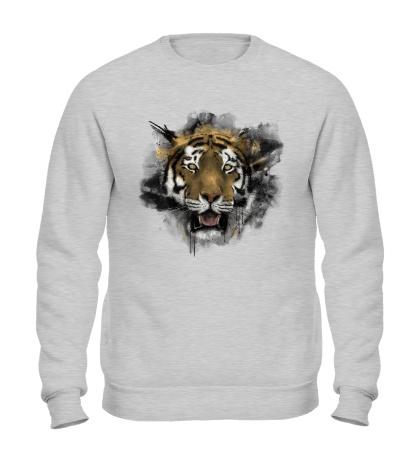 Свитшот Акварельный тигр