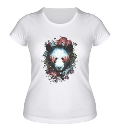 Женская футболка Силуэт Медведя