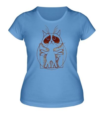 Женская футболка Кот Ворчун