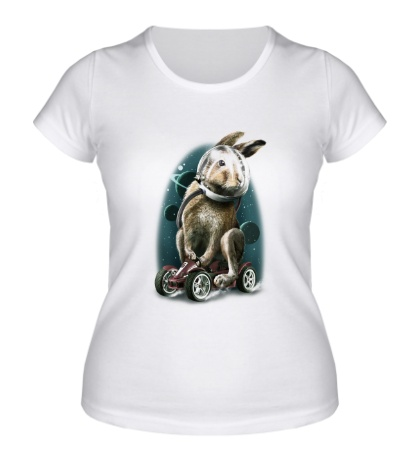 Женская футболка Космический заяц