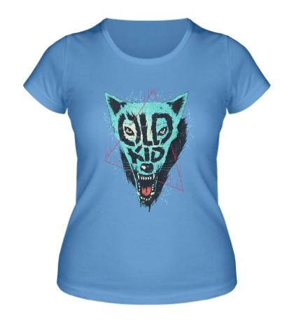 Женская футболка Wolf Old Kid