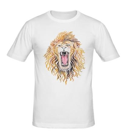 Мужская футболка Swirly Lion