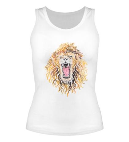 Женская майка Swirly Lion