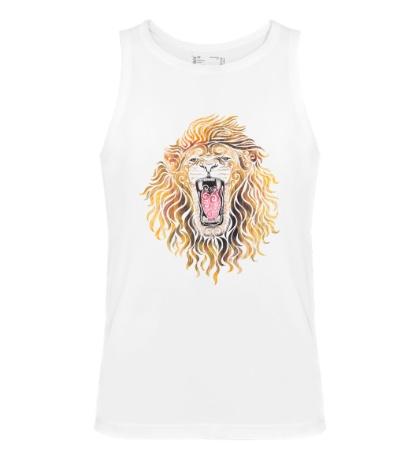 Мужская майка Swirly Lion