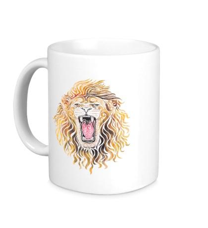 Керамическая кружка Swirly Lion