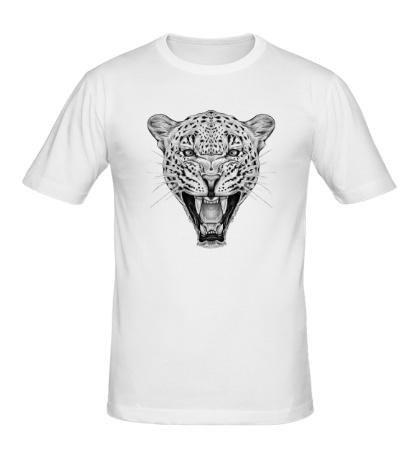 Мужская футболка Взгляд леопарда