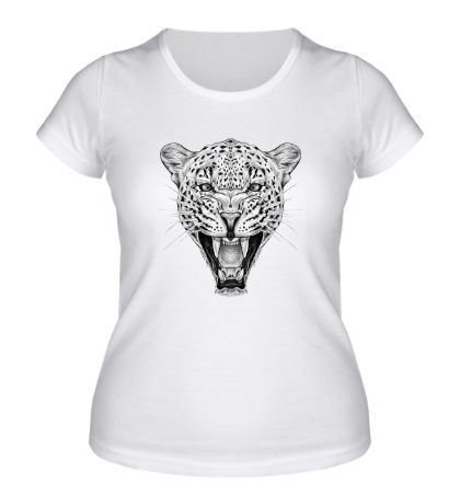 Женская футболка Взгляд леопарда