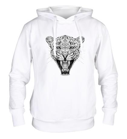 Толстовка с капюшоном Взгляд леопарда