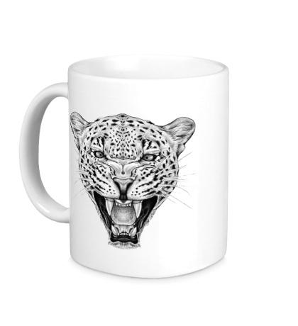 Керамическая кружка Взгляд леопарда