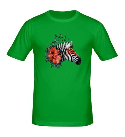 Мужская футболка Цветущая зебра