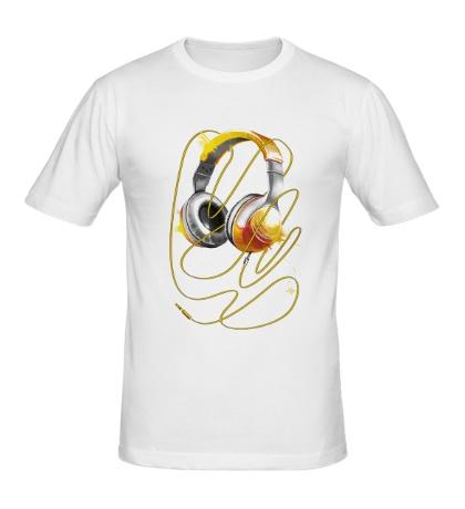 Мужская футболка Солнечные наушники