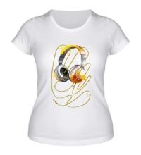 Женская футболка Солнечные наушники