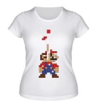 Женская футболка Супер Марио Тетрис