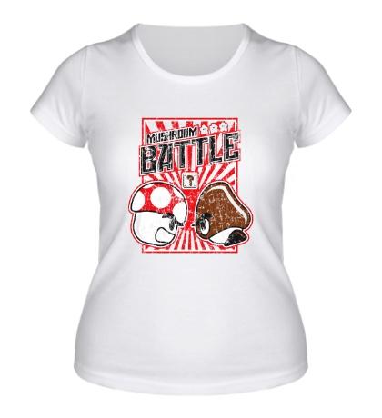 Женская футболка Mushroom Battle