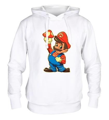 Толстовка с капюшоном Дедушка Марио