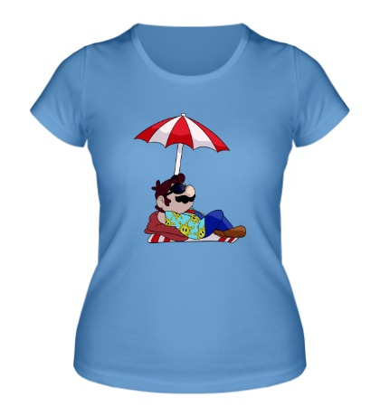 Женская футболка Марио на отдыхе