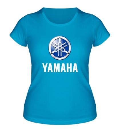 Женская футболка Yamaha: Silver Logo