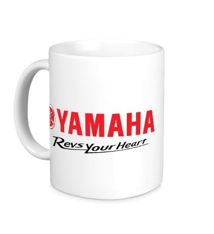 Керамическая кружка Yamaha: Revs your heart