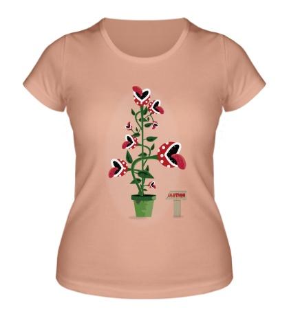 Женская футболка Осторожно, хищные растения!