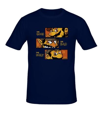 Мужская футболка Mario: Good, Bad, Ugly