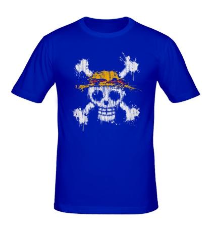 Мужская футболка Флаг пиратов соломенной шляпы