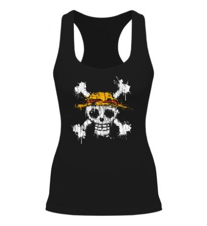 Женская борцовка Флаг пиратов соломенной шляпы