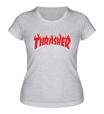 Женская футболка Thrasher fire