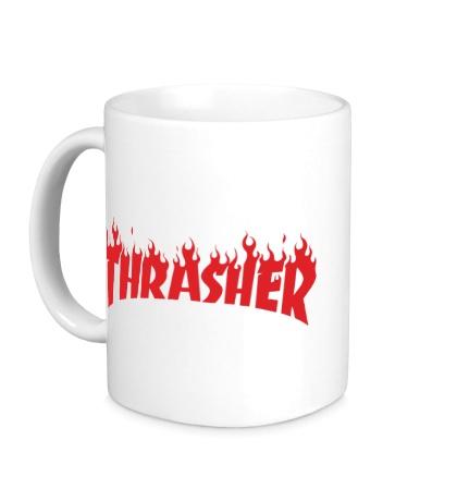 Керамическая кружка Thrasher fire