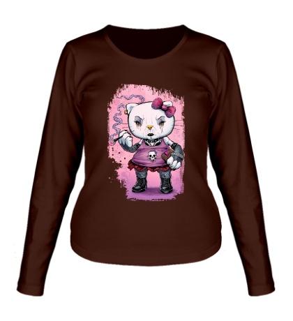 Женский лонгслив Gothic Kitty