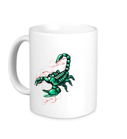 Керамическая кружка Изумрудный скорпион
