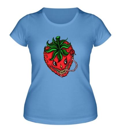 Женская футболка Хищная клубника