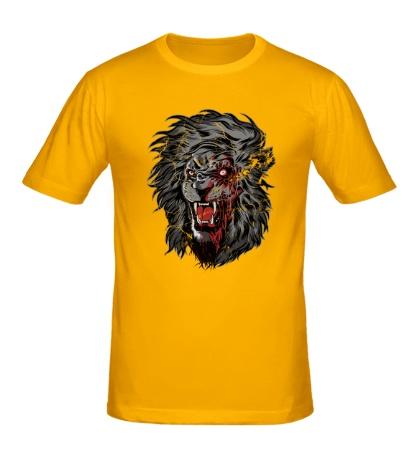 Мужская футболка Лев зомби