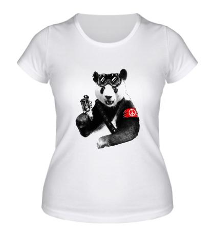 Женская футболка Панда повстанец